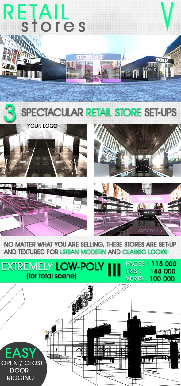 3DOcean Retail Stores 8533421