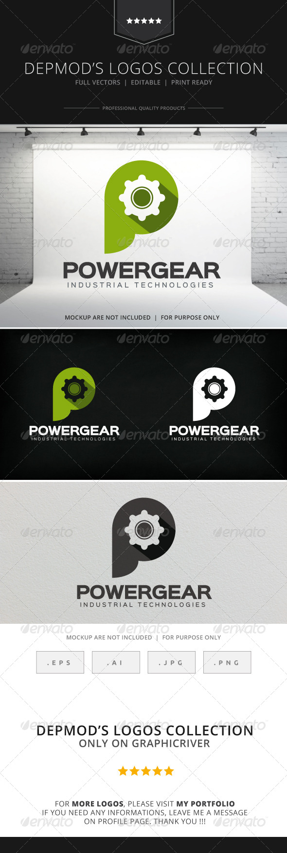 GraphicRiver Power Gear Logo 8533462