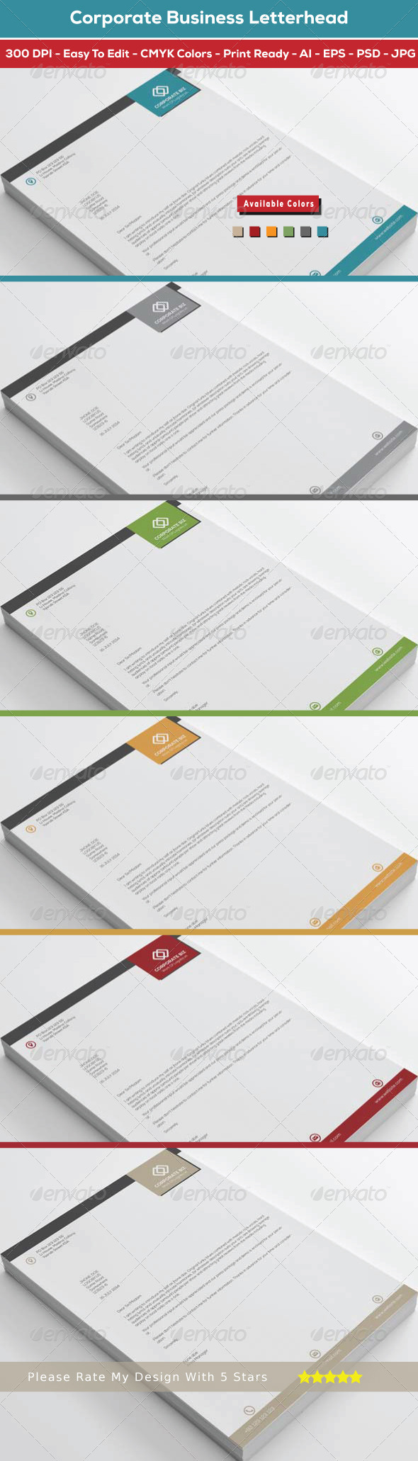 GraphicRiver Corporate Business Letterhead 8533589