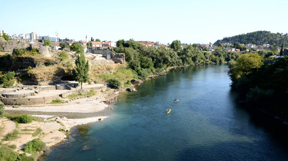 Kayak and River Landscape