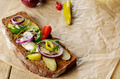 Sprat sandwich with pickled vegetables - PhotoDune Item for Sale