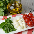 Caprese salad in shape of Italian flag - PhotoDune Item for Sale