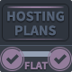 Modern Flat Hosting Plans - GraphicRiver Item for Sale
