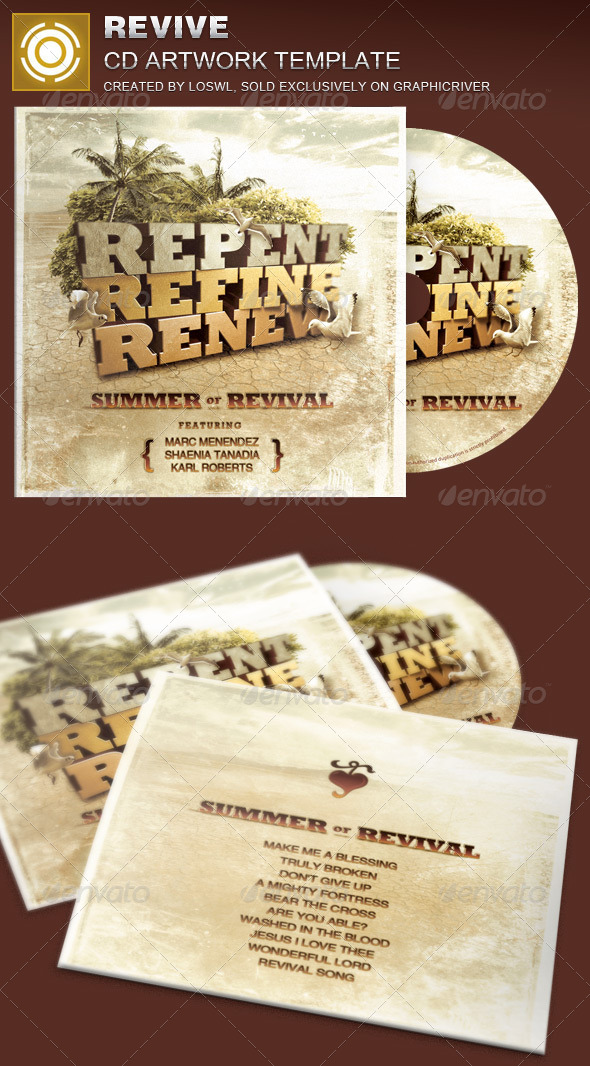 Revive CD Artwork Template