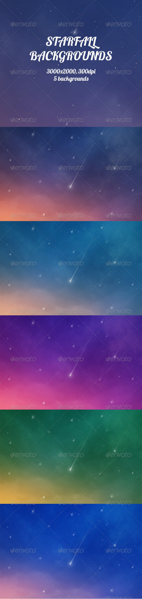 GraphicRiver Starfall Backgrounds 8533918