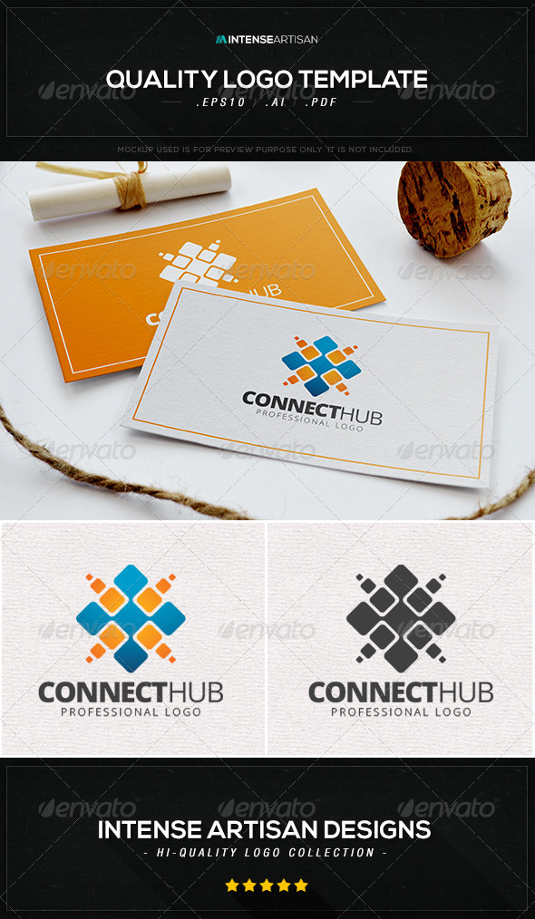 GraphicRiver Connect Hub Logo Template 8533992