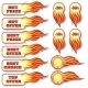 Hot Price and Offers Sale Flaming Badges Set - GraphicRiver Item for Sale