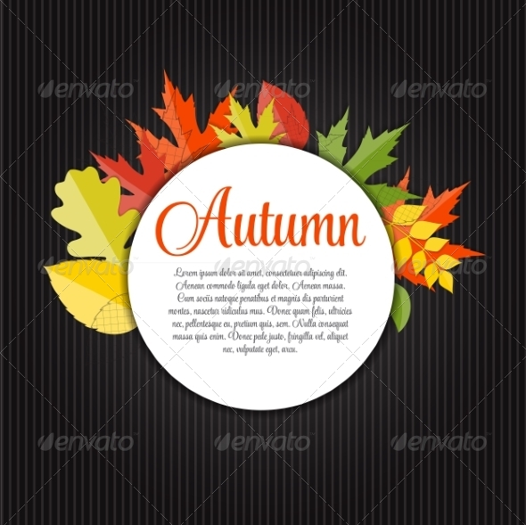 GraphicRiver Shiny Autumn Natural Leaves Background 8534019