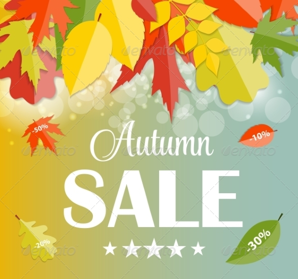 GraphicRiver Autumn Sale Concept Vector Illustration 8534074