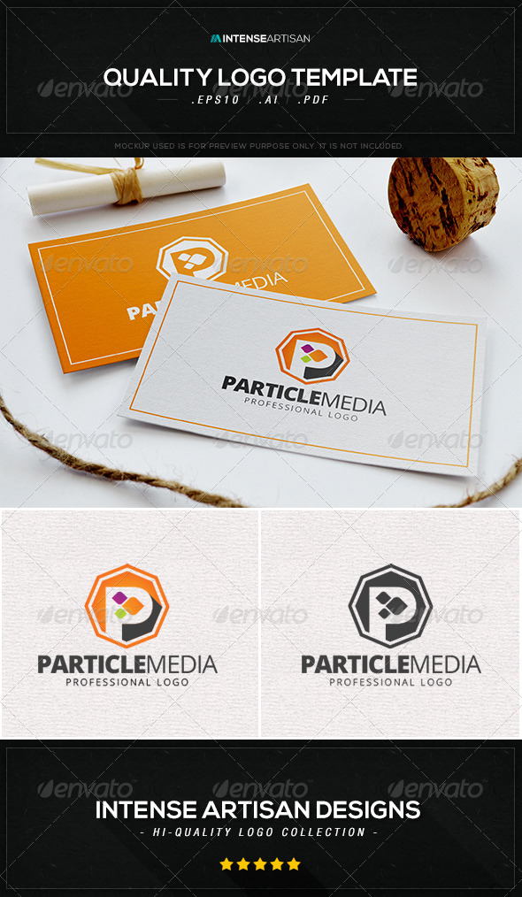 GraphicRiver Particle Media Logo Template 8534246