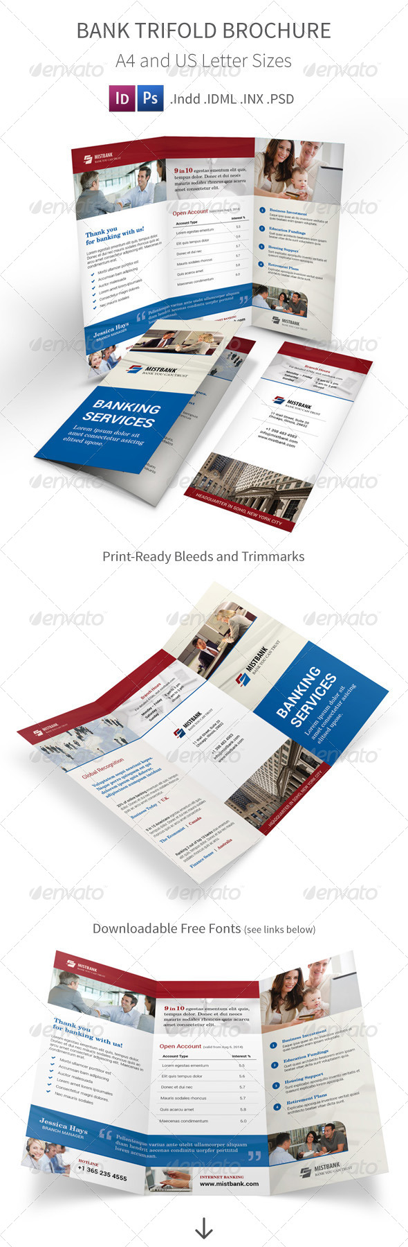 GraphicRiver Bank Trifold Brochure 8534539