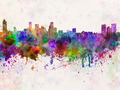 Baltimore skyline in watercolor background - PhotoDune Item for Sale