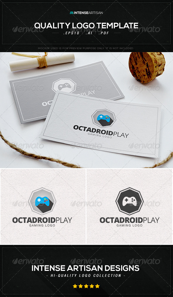 GraphicRiver Octadroid Play Logo Template 8534565