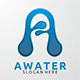 Awater - Letter A Logo Template - GraphicRiver Item for Sale
