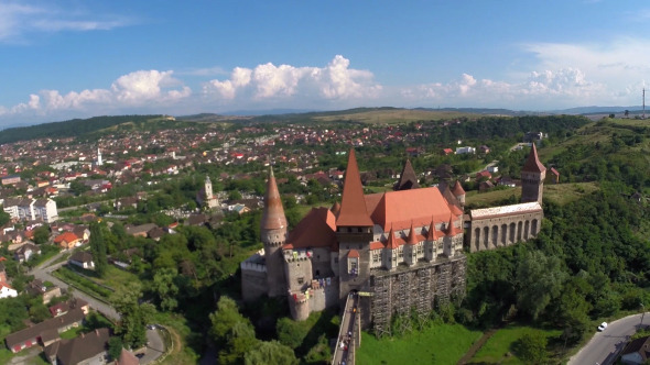 Aerial View Of An Old Castle 7