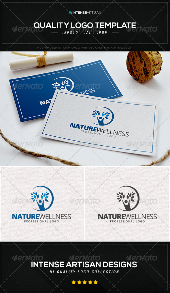 GraphicRiver Nature Wellness Logo Template 8534995