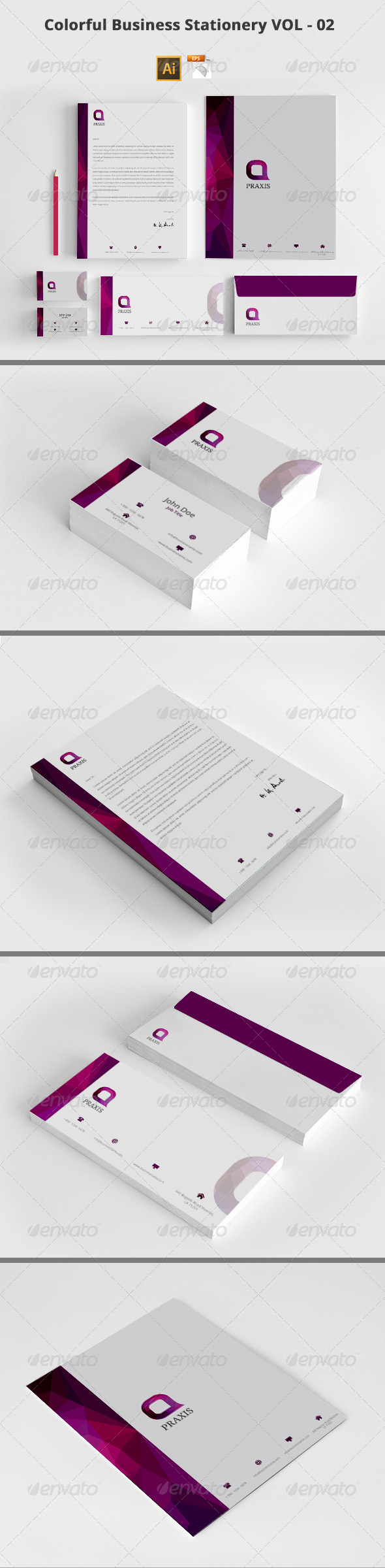 GraphicRiver Colorful Business Stationery VOL 02 8535117