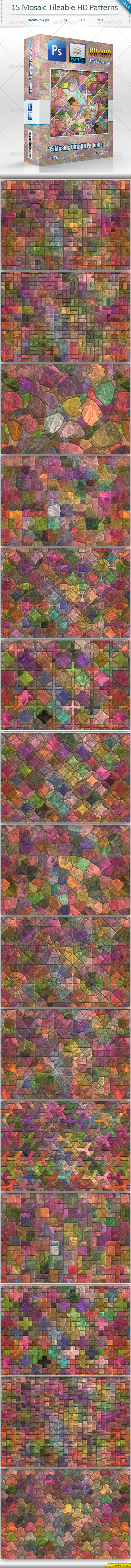 GraphicRiver Mosaic Tileable Patterns vol 1 8535131