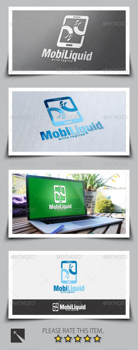 GraphicRiver Mobile Liquid Logo Template 8535137