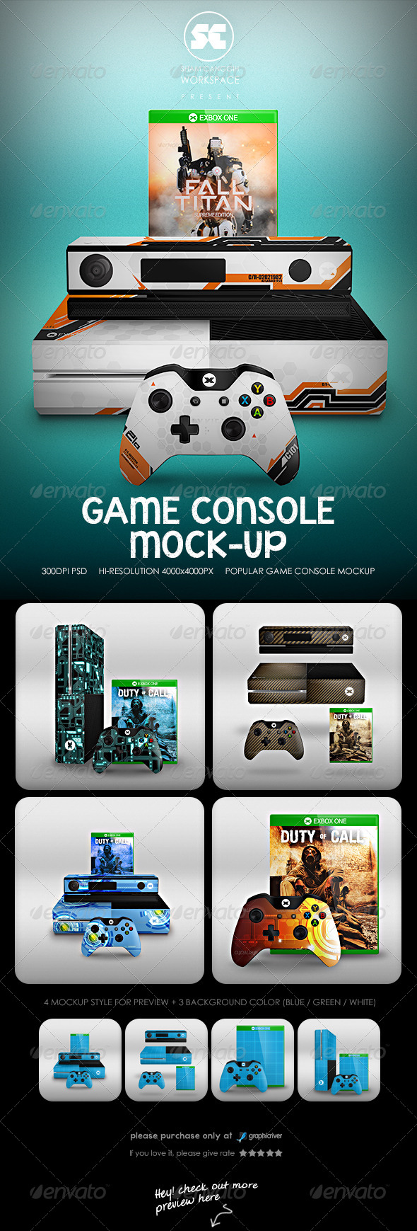 GraphicRiver Game Console Mock-Up 8534528