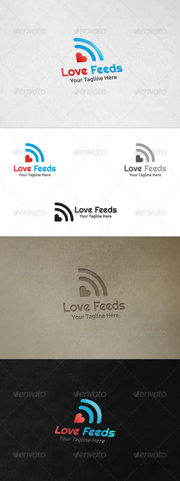 GraphicRiver Love Feeds Logo Template 8535201