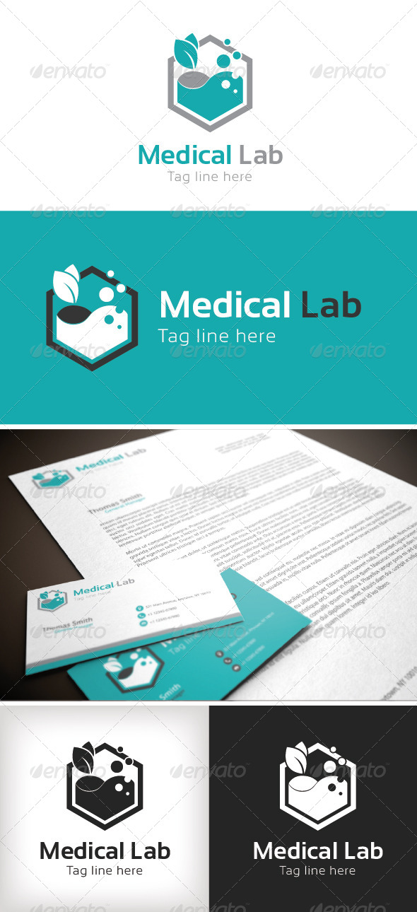 GraphicRiver Medical Lab Logo Template 8535207
