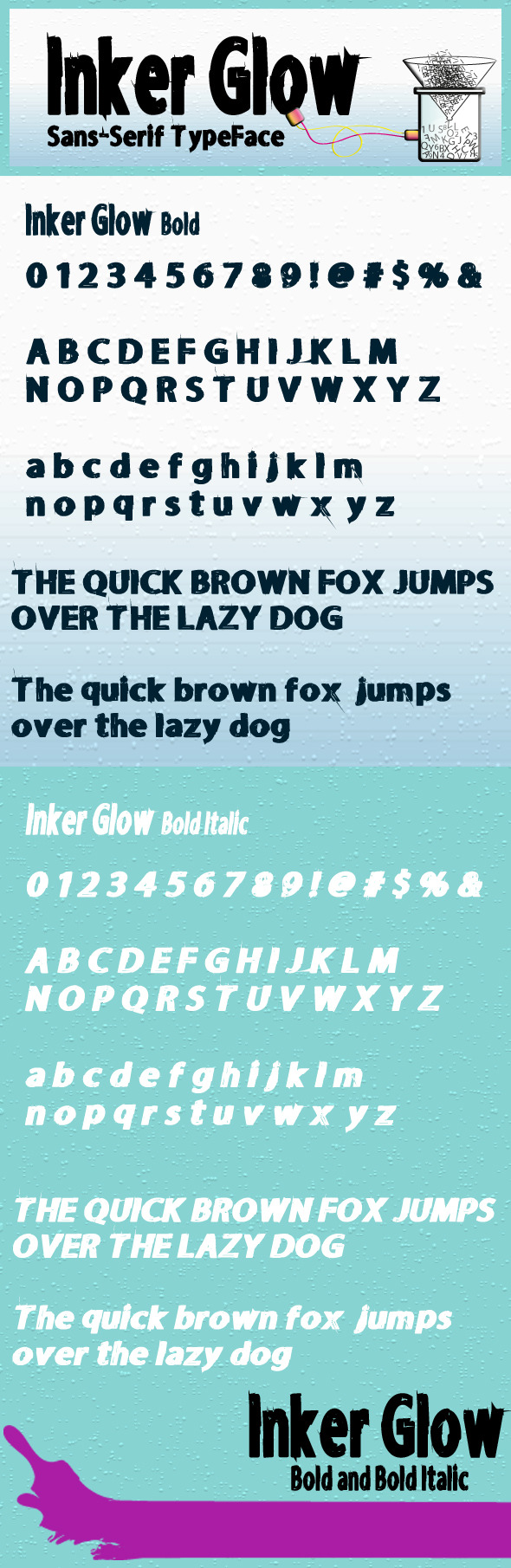 GraphicRiver Inker Glow Bold and Bold Italic 8535387