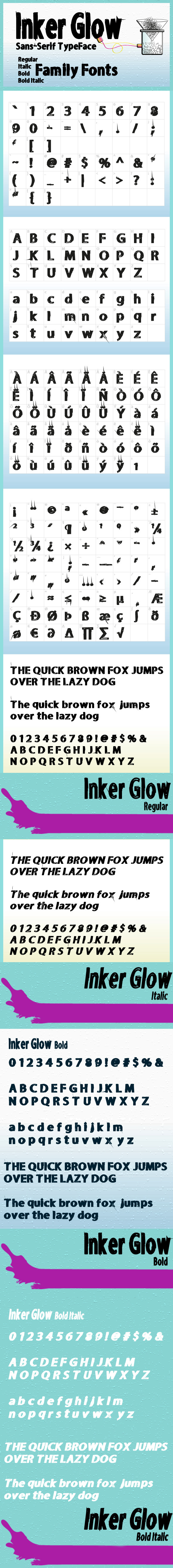 GraphicRiver Inker Glow Family Fonts 8535397