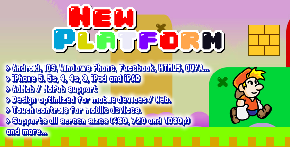 CodeCanyon Platform Game 2D Full 8535532
