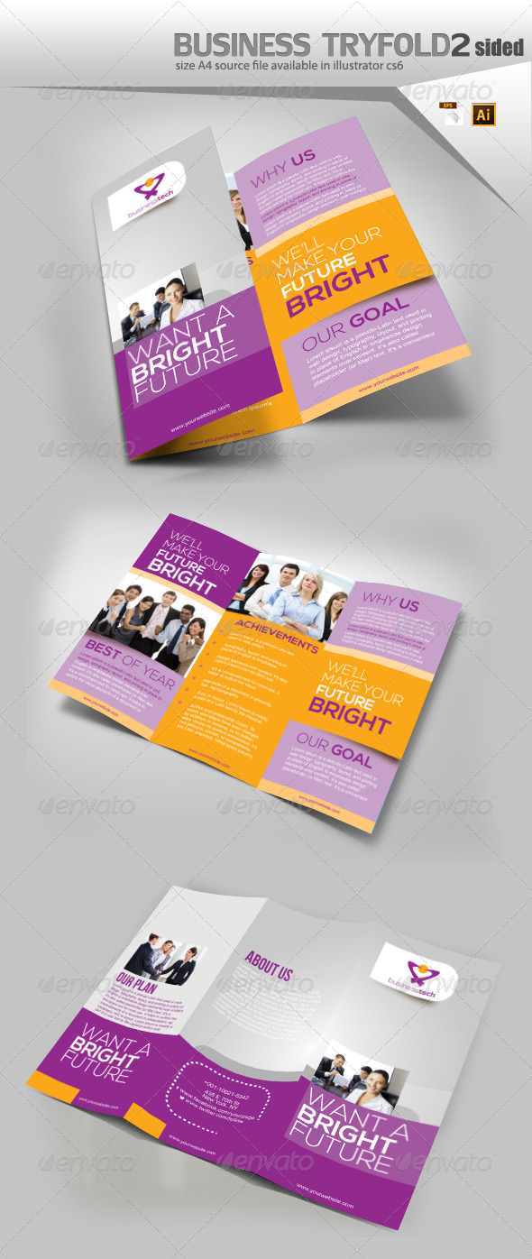 GraphicRiver Business Three Fold Brochure 8535560
