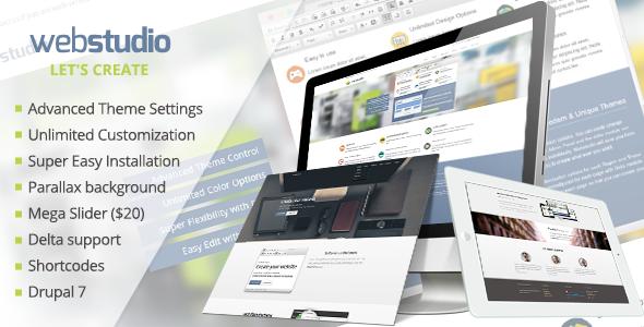 Webstudio: Responsive Multipurpose Drupal 7 Theme - Drupal CMS Themes