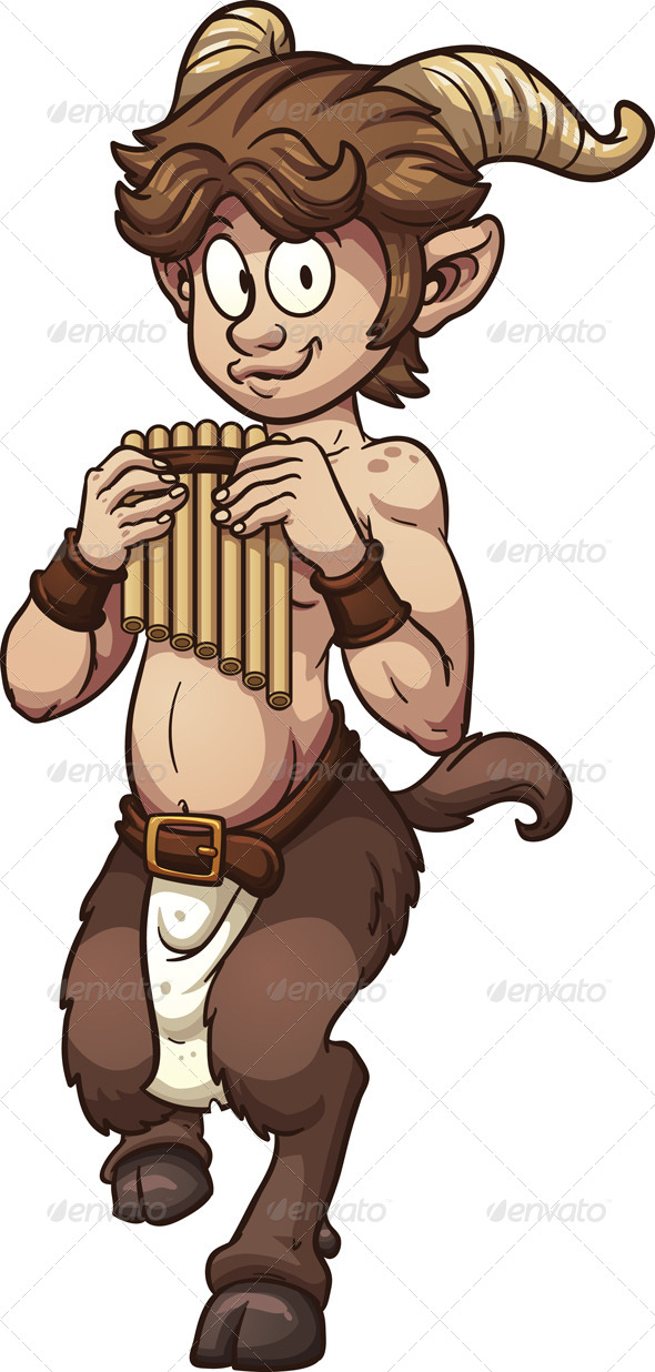 GraphicRiver Cartoon Satyr 8535759