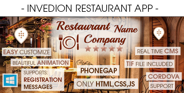 Restaurant App With CMS - Windows Phone - CodeCanyon Item for Sale
