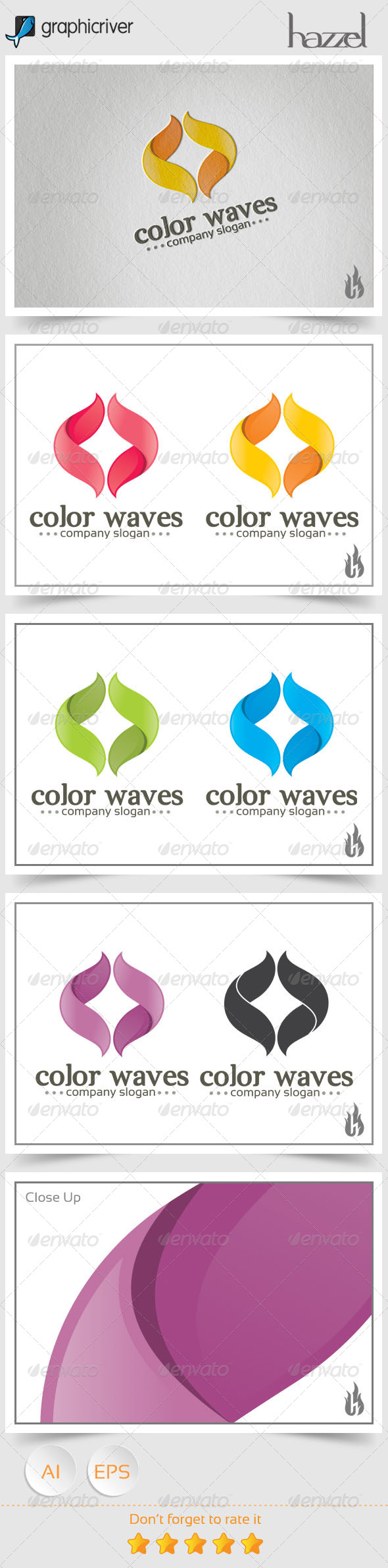 GraphicRiver Color Waves Logo 8536107