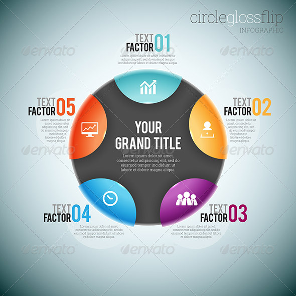 GraphicRiver Circle Gloss Flip Infographic 8536109