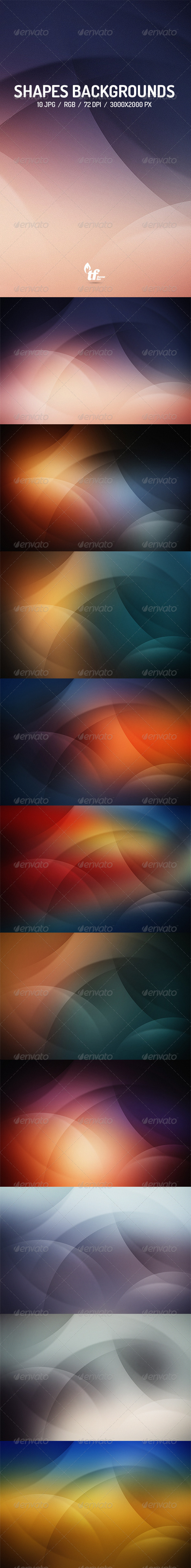 GraphicRiver 10 Shapes Backgrounds 8536136
