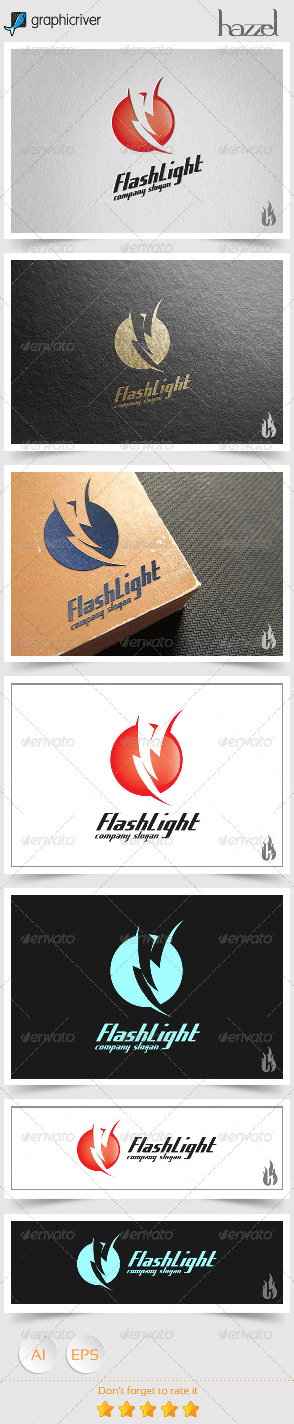 GraphicRiver Flash Light Logo 8536139