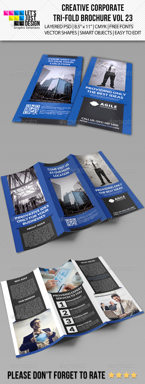 Creative Corporate Tri-Fold Brochure Vol 23