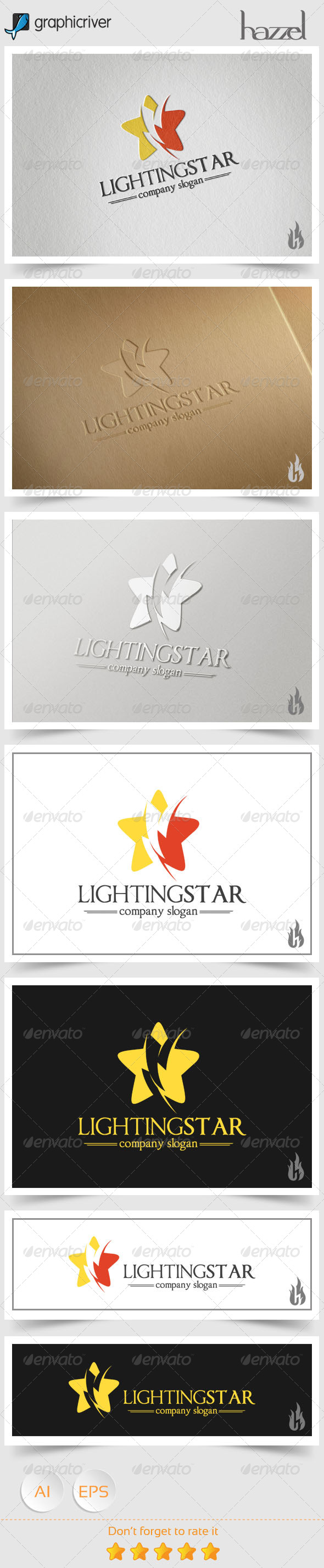 GraphicRiver Lighting Star Logo 8536175