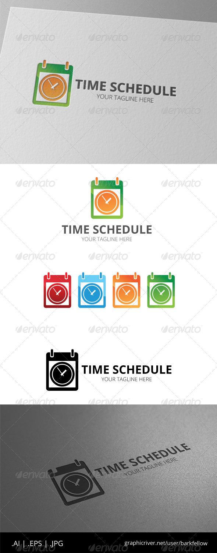 GraphicRiver Time Schedule Calendar Logo 8536183