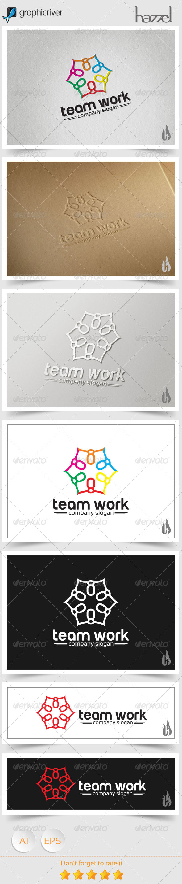 GraphicRiver Team Work Logo 8536185