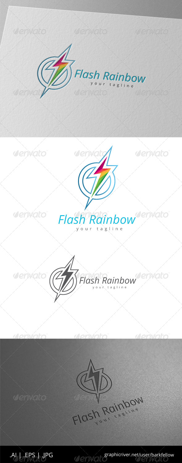 GraphicRiver Circle Flash Electric Rainbow Logo 8536295