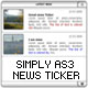 SIMPLY NEWS TICKER XML AS3 - ActiveDen Item for Sale
