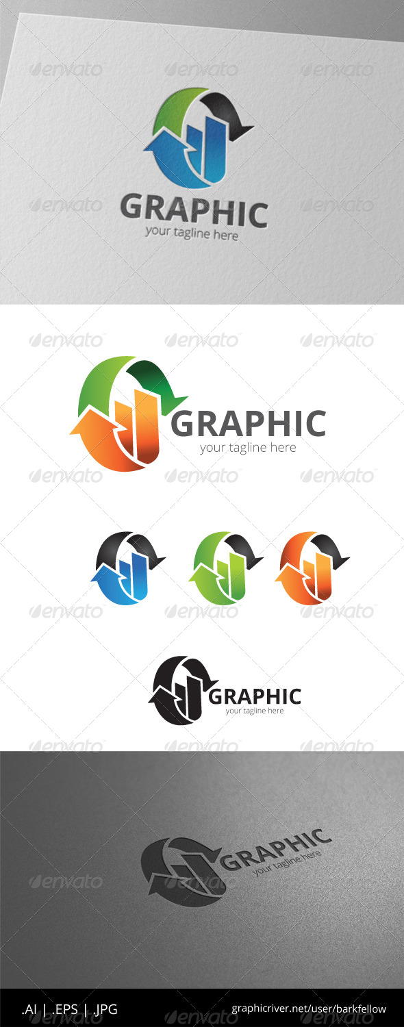 GraphicRiver Infographic Circle Arrow Logo 8536413
