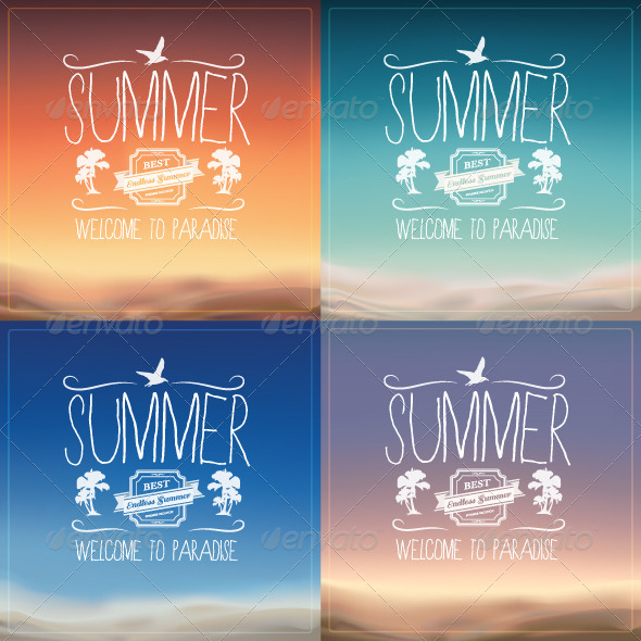 GraphicRiver Summer Backgrounds 8536433
