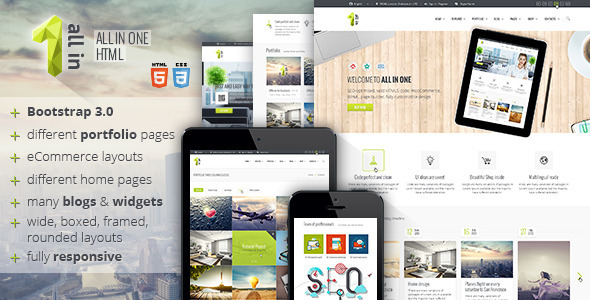 ThemeForest All In One HTML5 Template 8002016