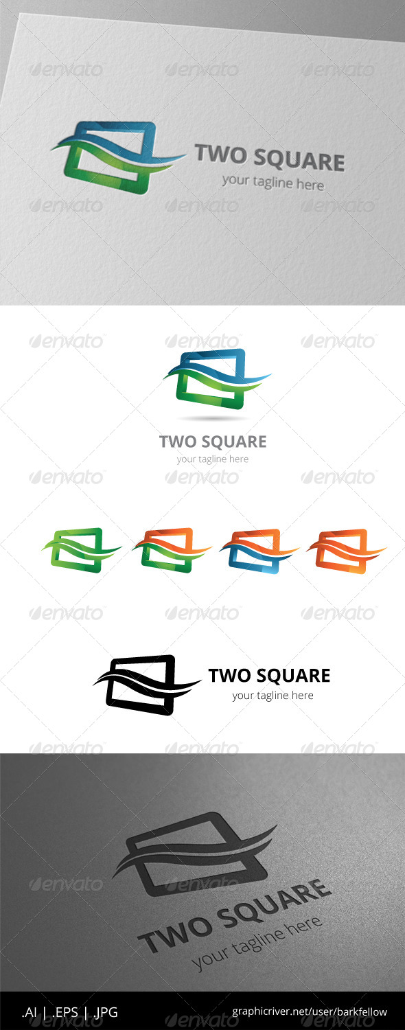 GraphicRiver Two Color Square Box Logo 8536571