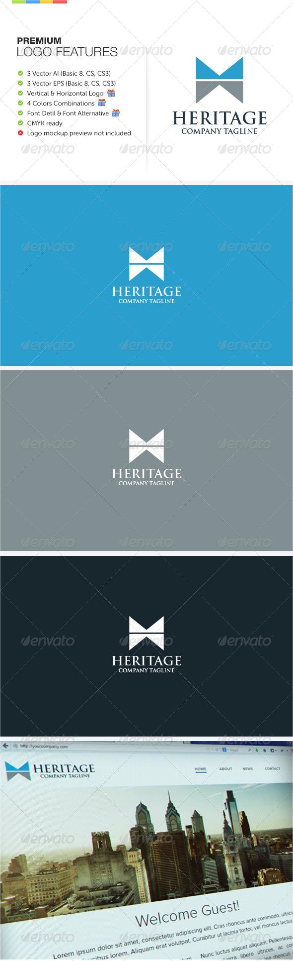 GraphicRiver Heritage Logo 8536677