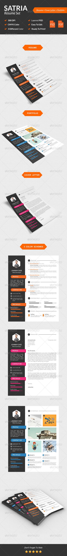 GraphicRiver Satria Modern Resume Set 8535170