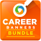 Job Search & Employment Banner Set Bundle - 3 sets - GraphicRiver Item for Sale
